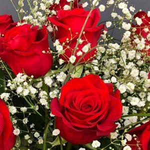 Detalle de ramo de rosas comprar online Valladolid