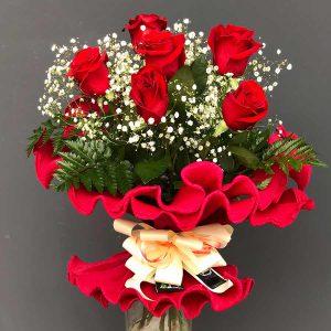 Ramo de 6 rosas compra en tienda online Valladolid